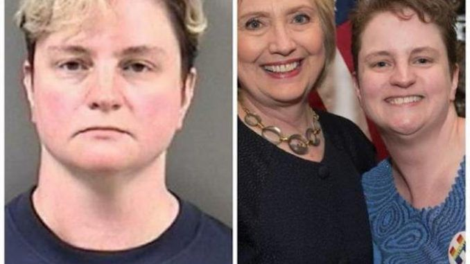Antifa member arrested for carrying deadly weapon during Berkeley protests pictured with Hillary Clinton