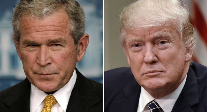 Deep State admit they have brainwashed Trump, liken him to Bush