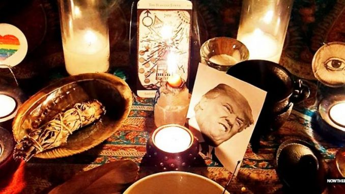 Californian witches cast binding spell on President Trump