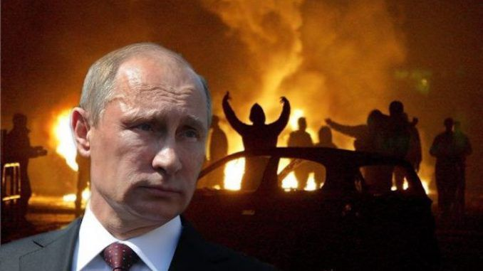 "Putin has imprisoned 130 American Antifa members after they travelled to Moscow and organized a violent riot to protest ""Russian hacking."""