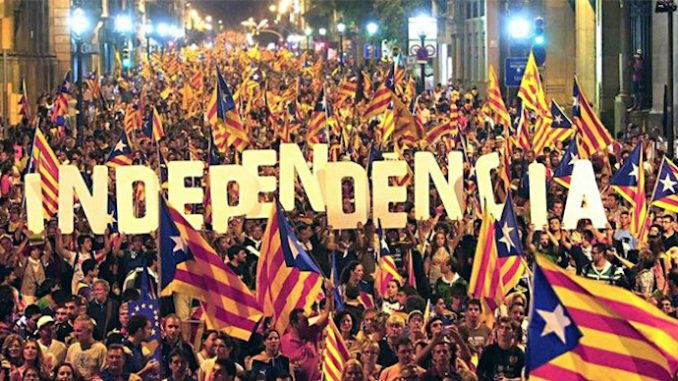 Millions of Catalonians are set to demand independence from Spain and the EU, as the ruling elite take away their democratic rights.