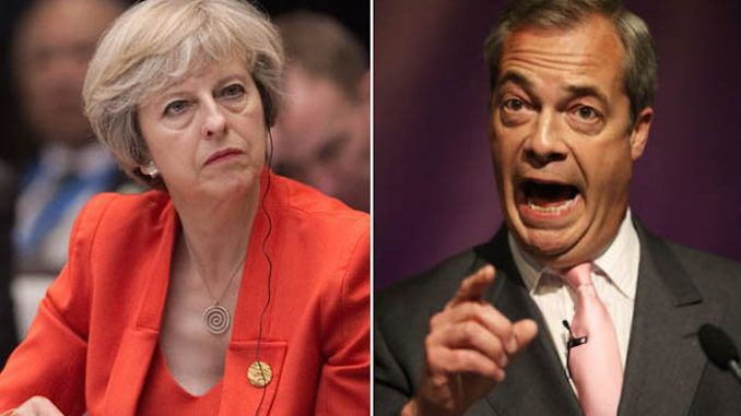 Nigel Farage slams Theresa May, vows to make Brexit happen