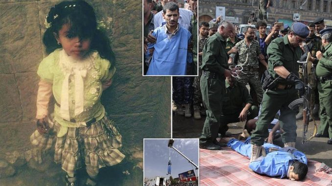 Pedophile who raped and killed a young girl is executed in public
