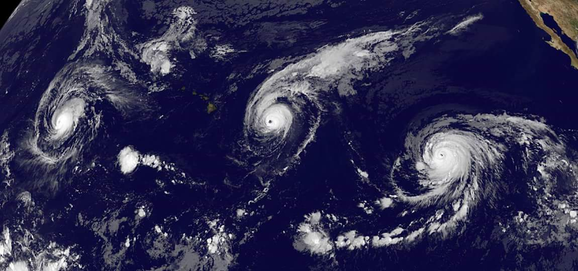 The perfect storm? Three hurricanes line up in a row in September 2017