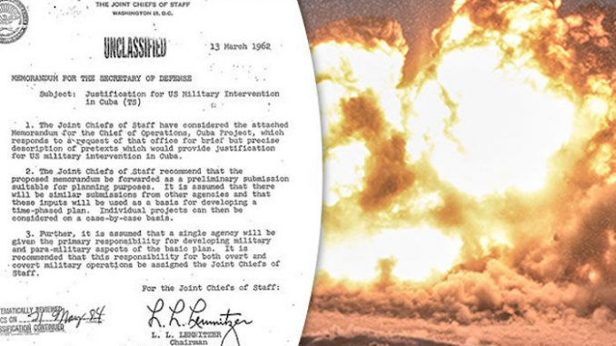 JFK files reveal CIA plot to bomb America and blame it on Cuba