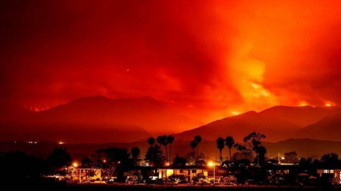The wild fires that have raged in northern California this past week were sparked intentionally and were not natural blazes.