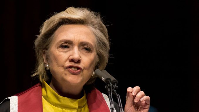 Hillary urges Britain to stop trading with the USA while Trump is President