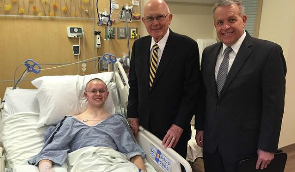 Mason Wells, a survivor of three terrorist attacks, recovers from injuries incurred from bombing of Brussels Airport and visits with elders of the Mormon church.