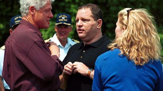 When Bill Clinton was at the height of the Monica Lewinsky sex scandal, Harvey Weinstein was providing huge donations to cover his legal fees