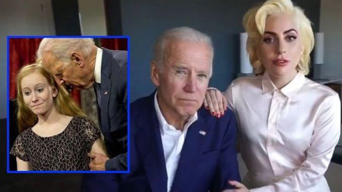 Creepy Joe Biden teams up with Lady Gaga to stop sexual assault