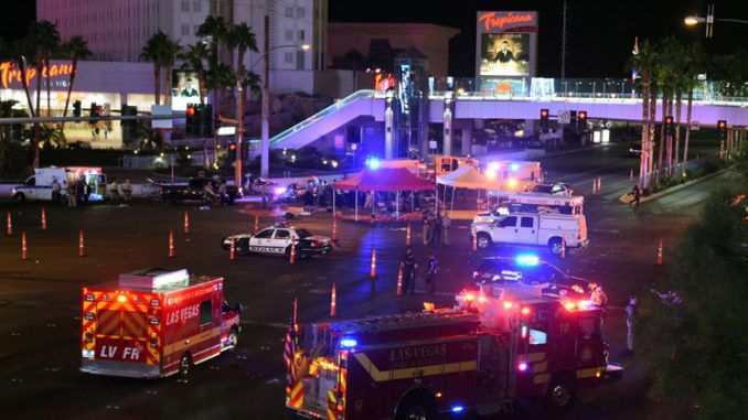 Video footage which shows 17 ambulances removing human bodies from Hooters contradicts the official story told by Sheriff Lombardo.