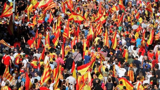 One million European elitists protest Catalan independence vote in Spain