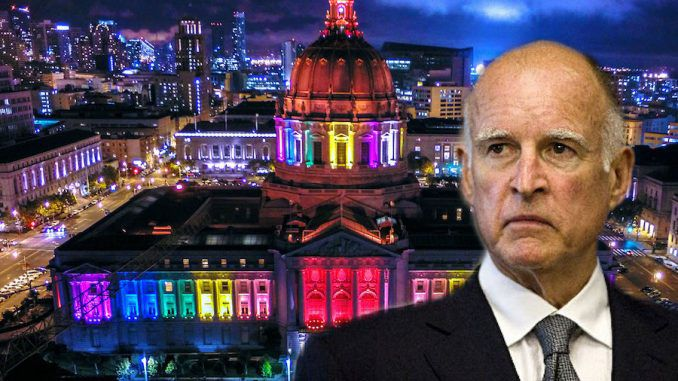 People in California can now be sent to prison for using the wrong gender pronoun, after Gov. Jerry Brown signed a bill on Thursday.