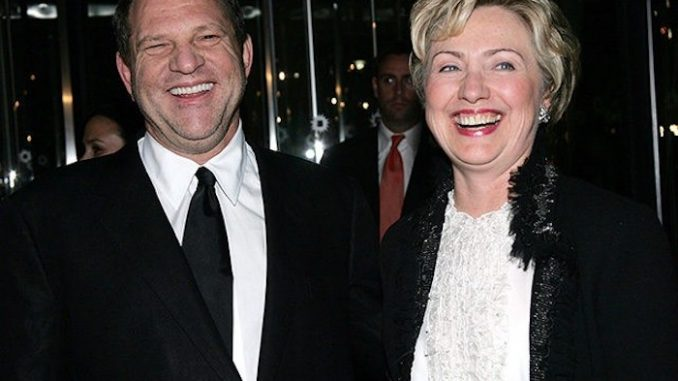 Someone needs to ask Hillary why she is refusing to denounce Harvey Weinstein, the man who donated hundreds of thousands of dollars to her campaigns.