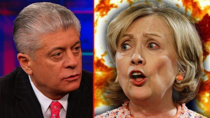 Judge Nap claims new emails will lead to Hillary Clinton indictment