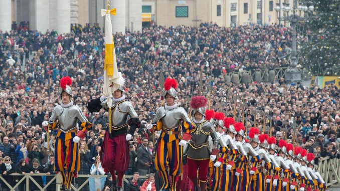 """Pope Francis has gathered an army of between """"ten to twelve thousand highly trained soldiers"""" according to estimates by Vatican observers."""
