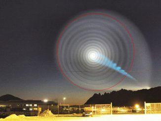 Glowing spirals appear across Russia