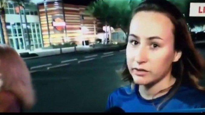 """An eyewitness to last night's mass shooting in Las Vegas has told a local news station that she and others were warned by an unidentified woman of a false flag event and that they were """"all going to die""""."""