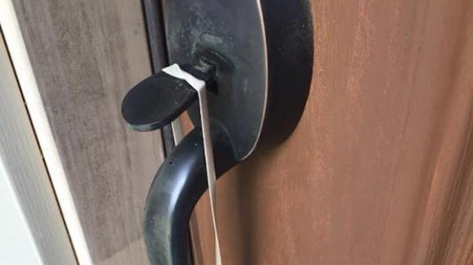 Criminals are using a sinister new technique involving a rubber band to victimize unsuspecting people in their homes across America.