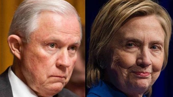 GOP lawmakers demand AG Sessions launches criminal investigation into Hillary Clinton