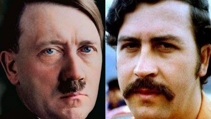 Adolf Hitler lived in Colombia after the war and fathered three children including Pablo Escobar, according to a Colombian historian.