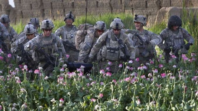 US military bomb and takeover Afghan opium lab