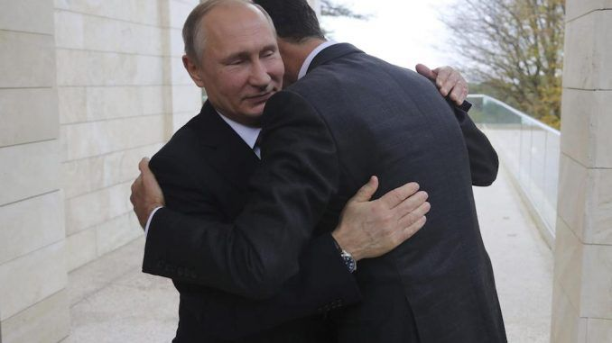 President Assad travelled to Russia to thank Vladimir Putin and Russia for saving Syria from the New World Order.