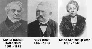 (Salomon Rothschild 1844-1911 not Lionel would be Hitler's grandfather)