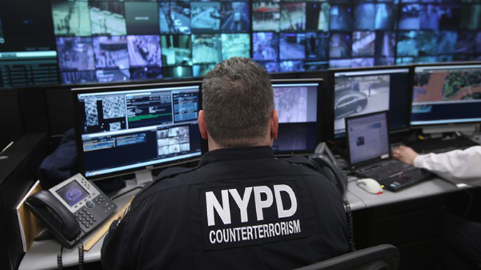 US police officers using military equipment to spy on innocent citizens
