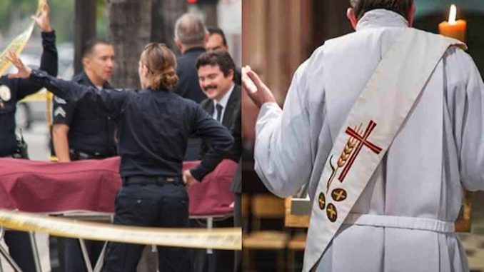 "A Massachusets priest, who was accused of molesting 29 children only to have his crimes ""forgiven"" by the Catholic church, has been found stabbed to death at his home."