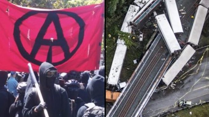 Police confirm Antifa terrorists responsible for train derailment in Washington