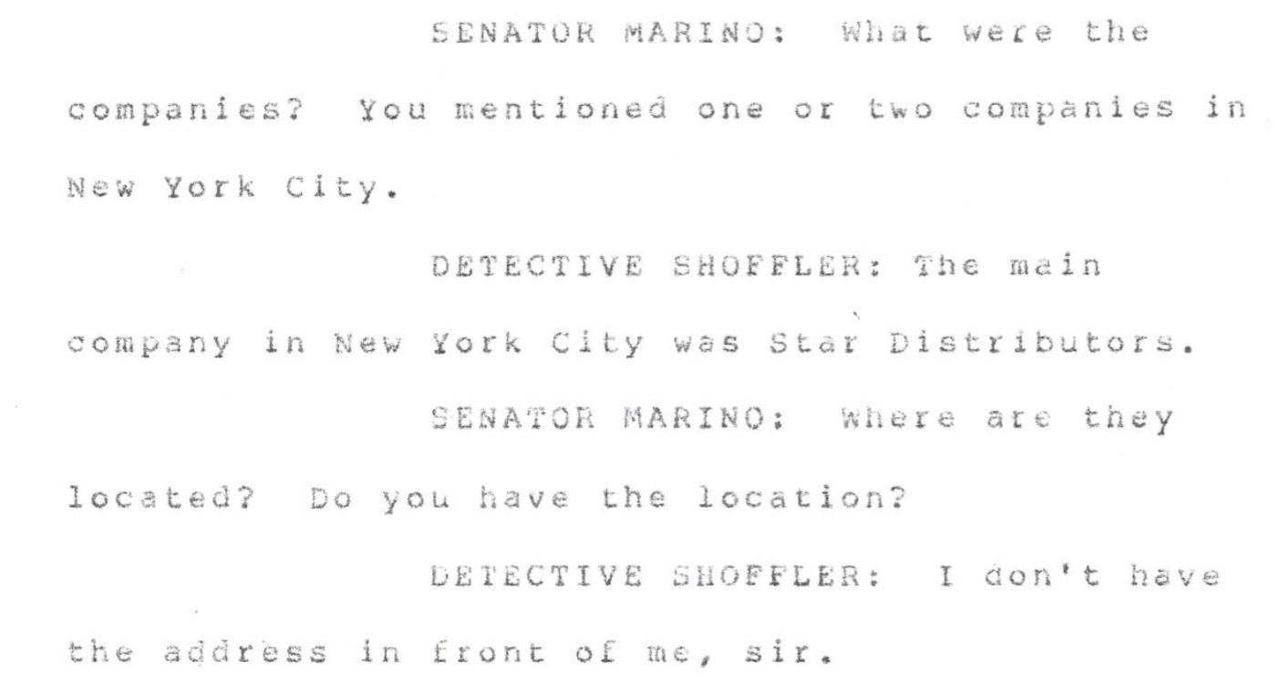 FOIA excerpt mentioning Star Distributors, a child pornography outlet tied to Richard Basciano