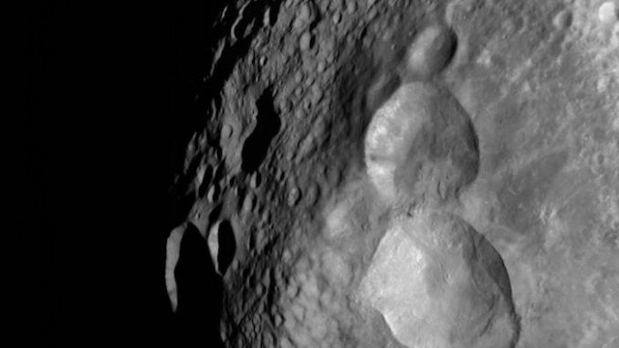 NASA releases image of asteroid with snowman carved onto surface