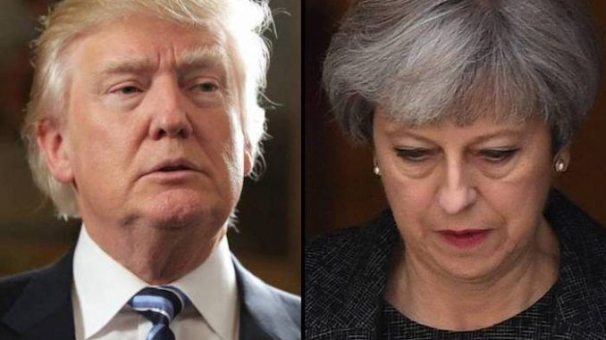 Trump cancels UK state visit are Theresa May's angry outburst on Twitter at the President