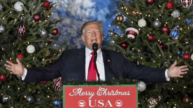 "President Trump has been promising to bring Christmas back to the White House for years and has now become the first POTUS in eight years to use the phrase ""Merry Christmas!"""