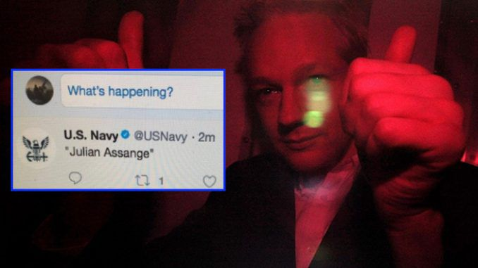 Rogue Twitter activity on Julian Assange's account, and mysterious deleted tweets featuring his name by a US military account, have sparked fears that the WikiLeak's founder is missing or dead.