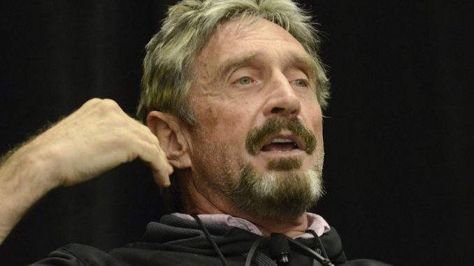 """John McAfee vowed to """"eat his own dick"""" on live TV if Bitcoin doesn't reach a value of $1 million by the year 2020."""