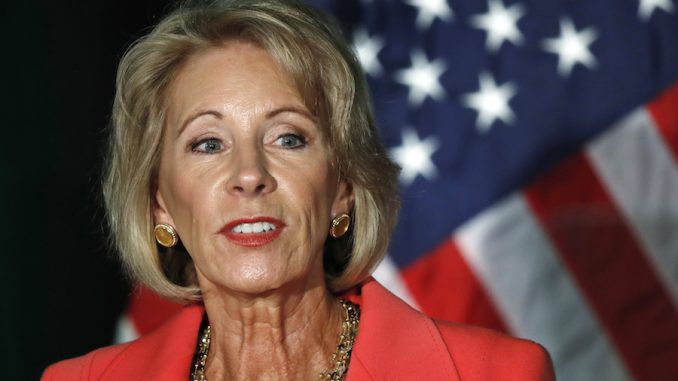 Betsy Devos has ditched the failing Common Core program