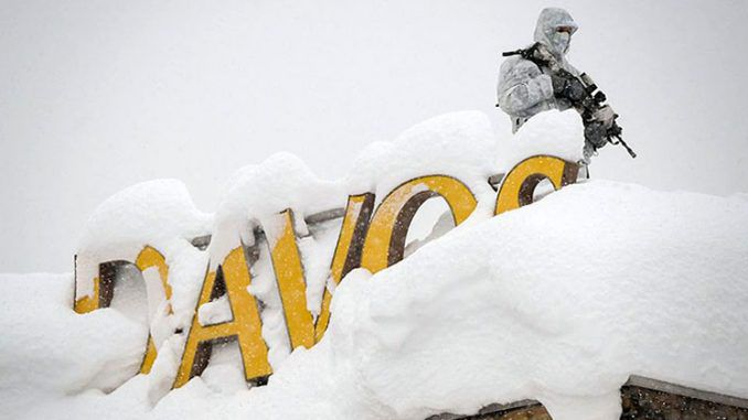 New World Order elites discuss global warming in Davos whilst snowed in
