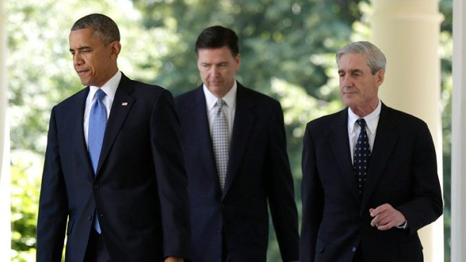 Image result for Obama, Comey, mueller