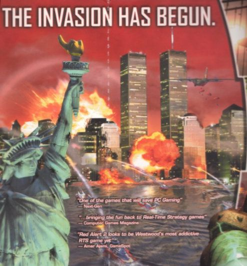 This artwork appeared on Red Alert 2 – a year before the World Trade Center attack