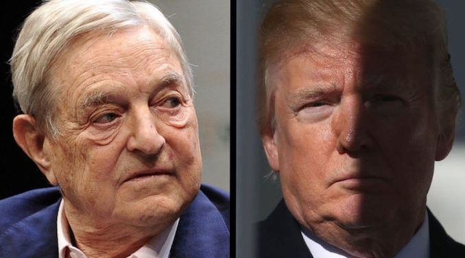 George Soros says Trump is a threat to the New World Order