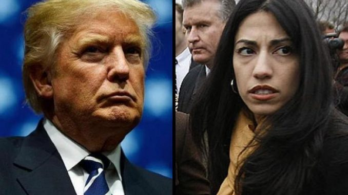 Trump has demanded Huma Abedin serve time in jail after she was caught forwarding top secret passwords and classified info to her Yahoo account.