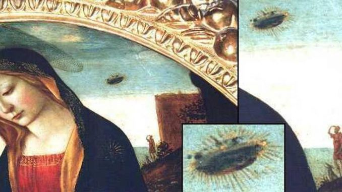Ancient artworks from Europe and the Americas hold clues that suggest aliens and UFOs have been visiting earth for many centuries.