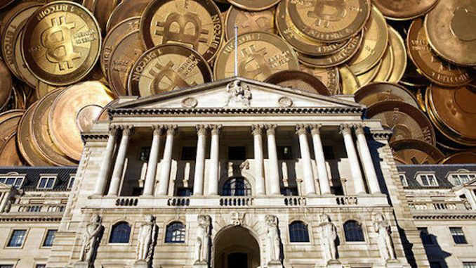 Bank of England creates centralized government approved cryptocurrency to compete against Bitcoin