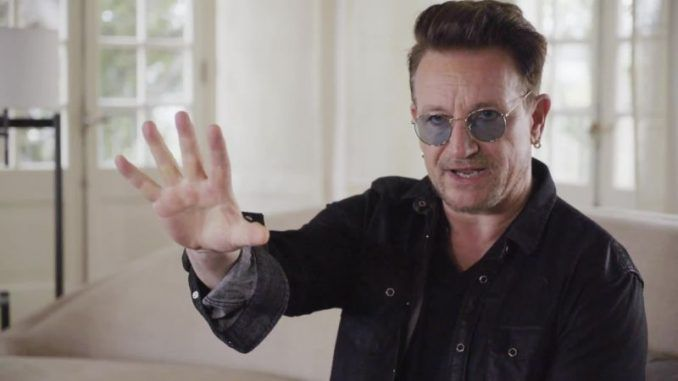 """America is a ship being navigated by a drunk, and manned by lost souls,"" according to U2 frontman Bono, who claims ""the UN must intervene."""