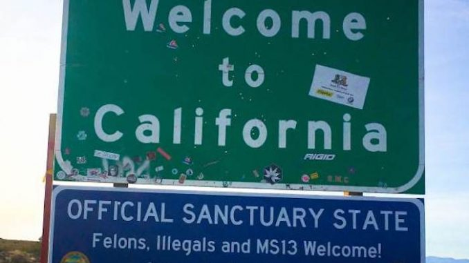 California become sanctuary state for illegals and felons