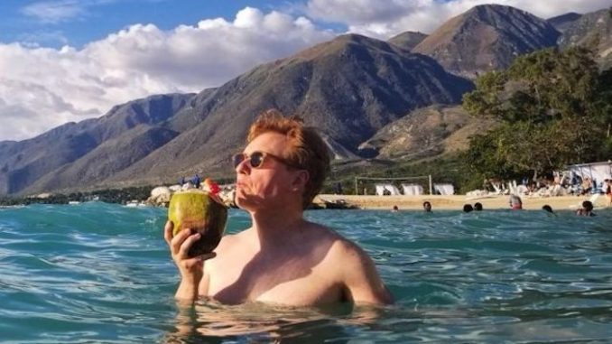 A member of Conan O'Brien's production crew was mugged in Haiti while the talk show host was filming a show designed to prove Haiti is safe.