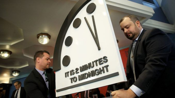Doomsday Clock moves 2 minutes closer to midnight