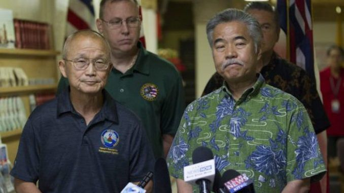 Hawaiian government officials says the missile alert was not a mistake